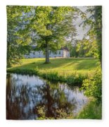 Herrevads Kloster By The Riverside Fleece Blanket