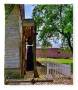 Herr's Mill And Covered Bridge 2 Fleece Blanket