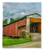 Herr's Mill Bridge - Pa Fleece Blanket