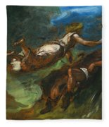 Hesiod And The Muse Fleece Blanket