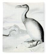 Hesperornis Regalis, Flightless Bird Fleece Blanket