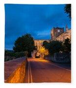 Hexham Abbey At Night Fleece Blanket