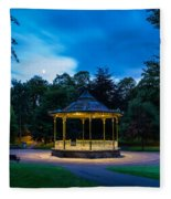 Hexham Bandstand At Night Fleece Blanket