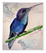 hHUMMINGBIRD 2   Fleece Blanket