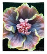 Hibiscus 9 Fleece Blanket