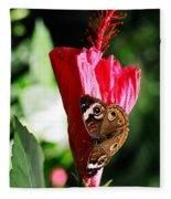 Hibiscus Aflutter Fleece Blanket