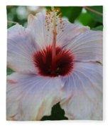 Hibiscus Beauty Fleece Blanket