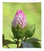 Hibiscus Bud Beauty Fleece Blanket