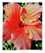 Hibiscus - Dew Covered - Beauty Fleece Blanket