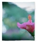 Hibiscus Flower In A Garden Fleece Blanket