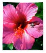 Hibiscus Fly-by Fleece Blanket