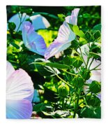 Hibiscus Garden Fleece Blanket