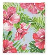Hibiscus Paradise-jp3965 Fleece Blanket