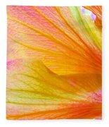 Hibiscus Petals Fleece Blanket