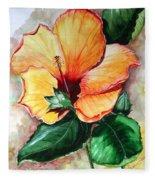 Hibiscus  Sunny Fleece Blanket