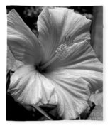Hibiscus With An Infrared Effect Fleece Blanket
