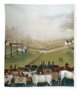 Hicks: Cornell Farm, 1848 Fleece Blanket