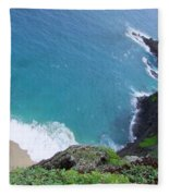 Hidden Kilauea Beach Fleece Blanket