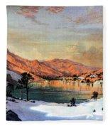 Hidden Lake Western United States Fleece Blanket