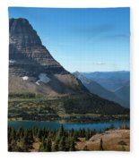 Hidden Lake - Glacier National Park Fleece Blanket