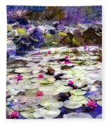 Hidden Pond Lotusland Fleece Blanket