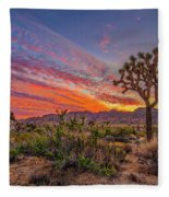 Hidden Valley Sunset Fleece Blanket