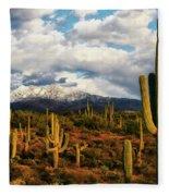 High Desert Snow Fleece Blanket