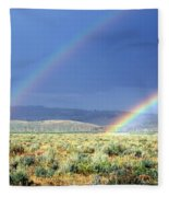 High Dessert Rainbow Fleece Blanket