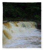 High Falls Of Cheat 13 Fleece Blanket