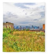 High Line On The Hudson Fleece Blanket