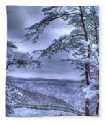 High Mountain Fence Fleece Blanket