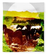 High Plains Horses Fleece Blanket