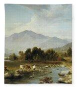High Point  Shandaken Mountains, 1853 Fleece Blanket