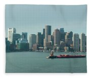 High Resolution Panoramic Of Downtown Boston During The Day Fleece Blanket