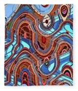 High Rise Abstract Phoenix Fleece Blanket