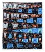 High Rise Construction Abstract # 4 Fleece Blanket