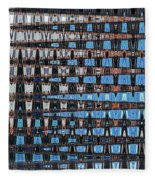 High Rise Construction Abstract Fleece Blanket