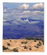 High Road To Taos Panorama Fleece Blanket