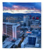 High Roller Sunset Fleece Blanket