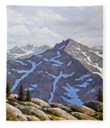 High Sierras Study Fleece Blanket