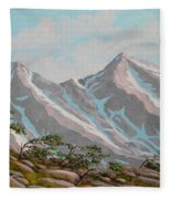 High Sierras Study IIi Fleece Blanket