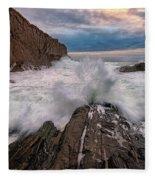 High Tide At Bald Head Cliff Fleece Blanket