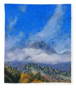 High Winds And Clouds Fleece Blanket