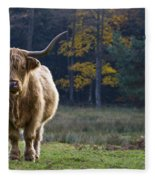 Highland Cow In France Fleece Blanket