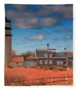 Highland Lighthouse Truro Massachusetts Fleece Blanket