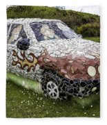 Highland Stoneware Car Fleece Blanket