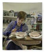 Highland Stoneware Artist At Work Fleece Blanket
