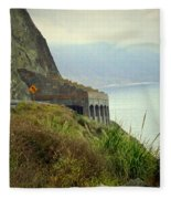 Highway 1 At Lucia South Of Big Sur Ca Fleece Blanket