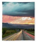 Highway 36 To Beautiful Boulder Colorado Fleece Blanket