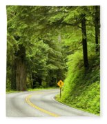 Highway Curve Fleece Blanket